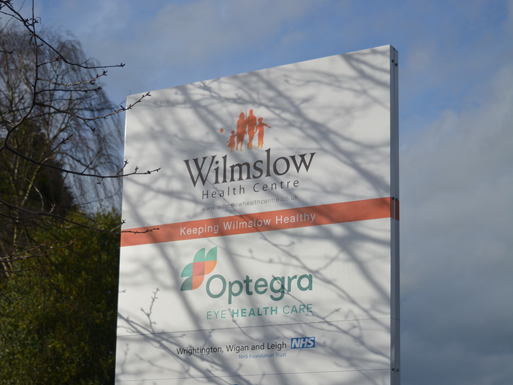 Wilmslow Health Centre Signage